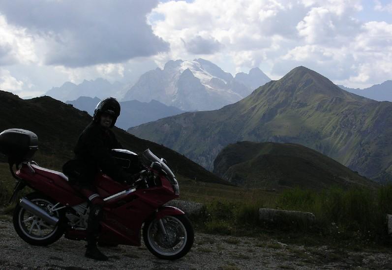 Passo Giau, sedlo, pohľad na Marmoladu