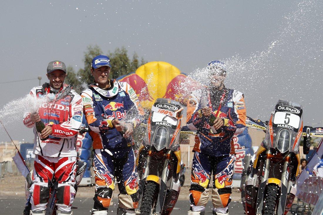 Marc Coma, Sam Sunderland a Helder Rodrigues - Maroko Rally 2014
