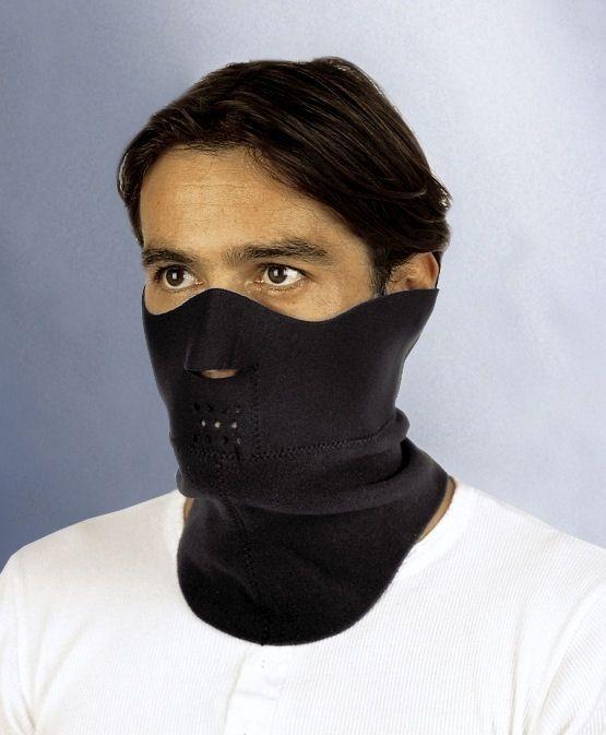 Neoprénový nákrčník s ochranou tváre a nosa