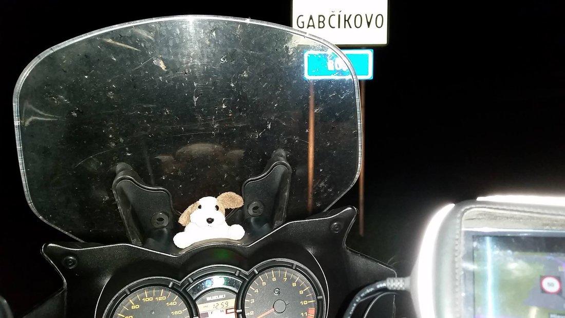Rekord - Okolo Slovenska na motocykli 2015 - Cesta - Gabčíkovo