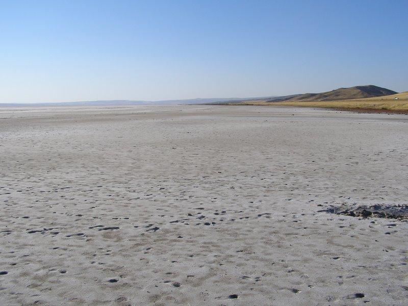 Soľné jazero Tuz Golu, Turecko