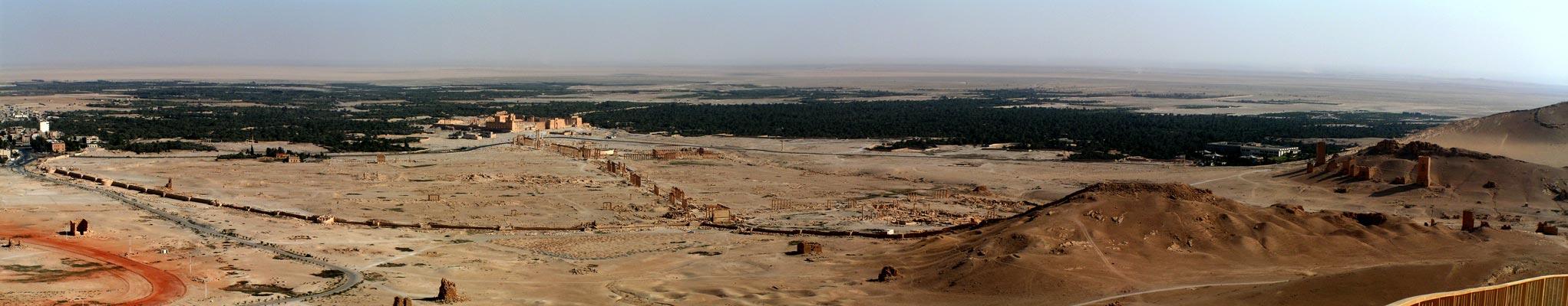 Panoráma Výhľad na Palmyru z citadely