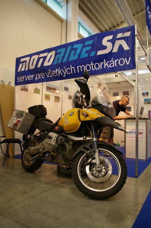 Výstava Motocykel 2007 - stánok Motoride.sk