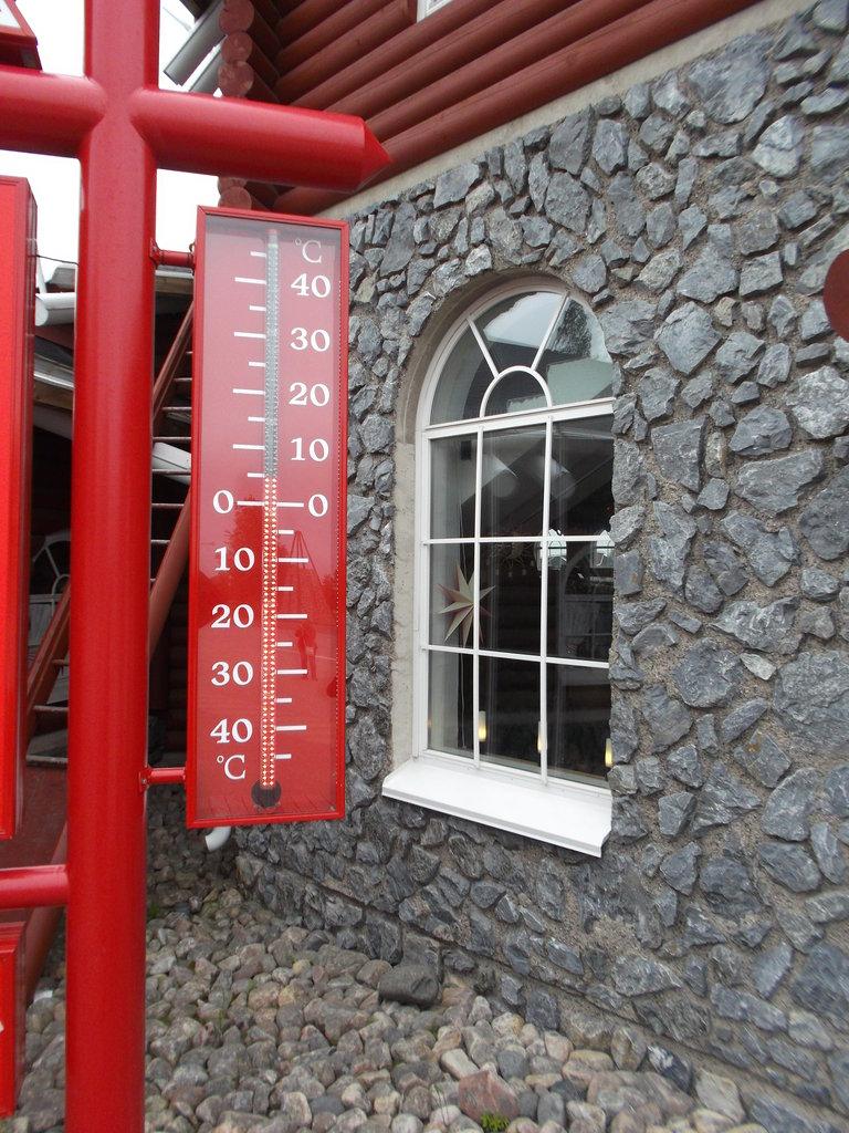 Aktuálna teplota na pol. kruhu Fínsko (Santaland)