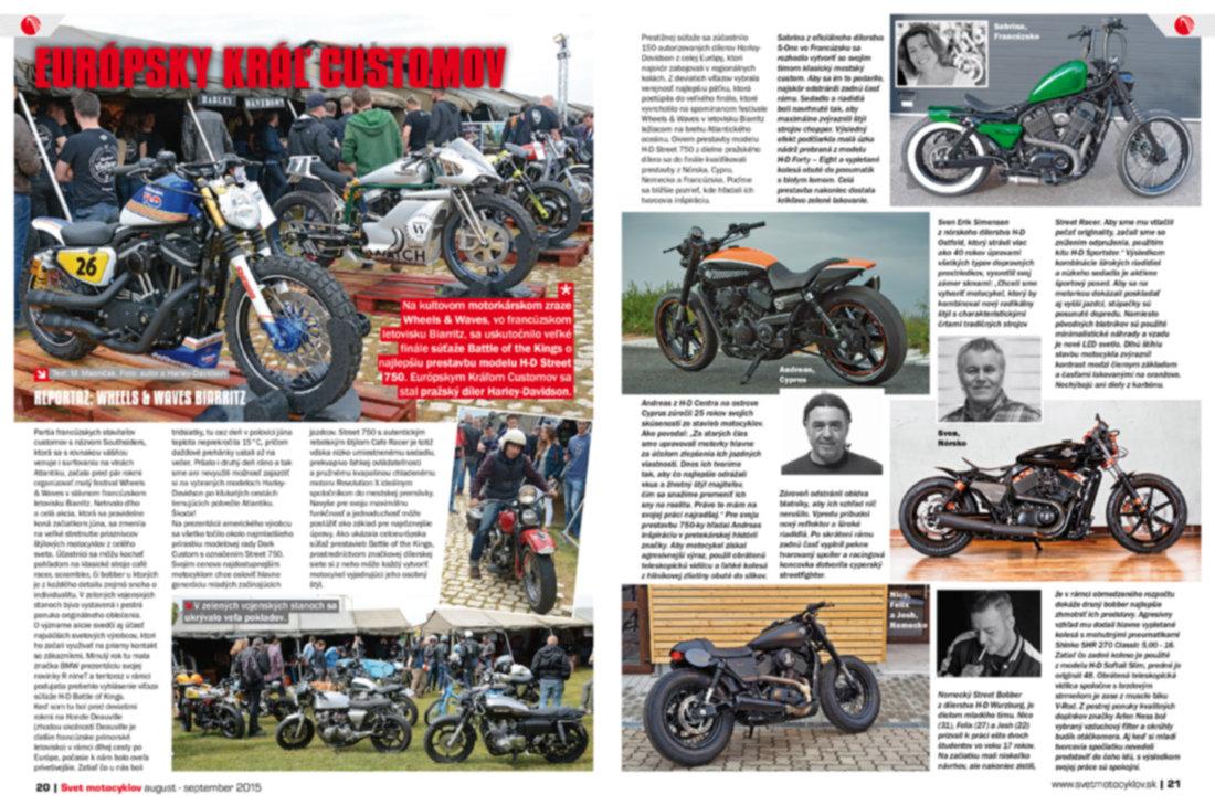 Svet motocyklov 8-9/2015 - Reportáž: Wheels & Waves Biarritz