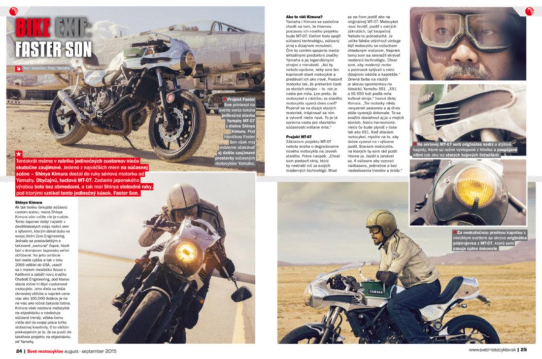 Svet motocyklov 8-9/2015 - BIKE EXIF: FASTER SON