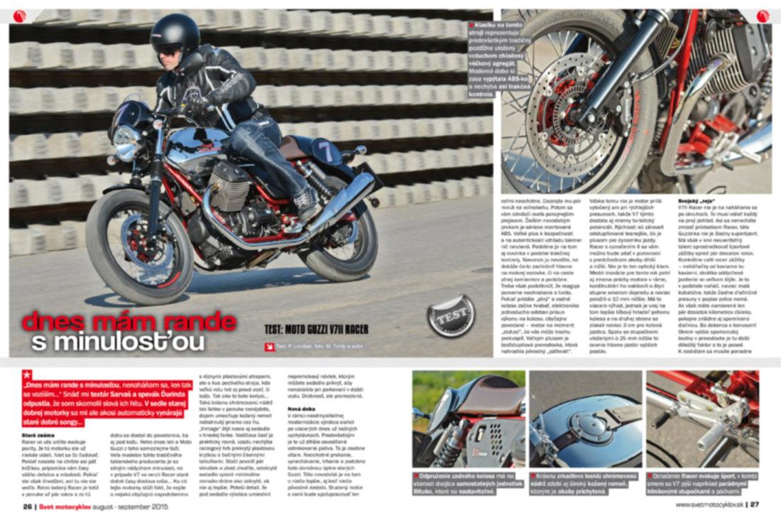 Svet motocyklov 8-9/2015 - TEST: Moto Guzzi V7II Racer