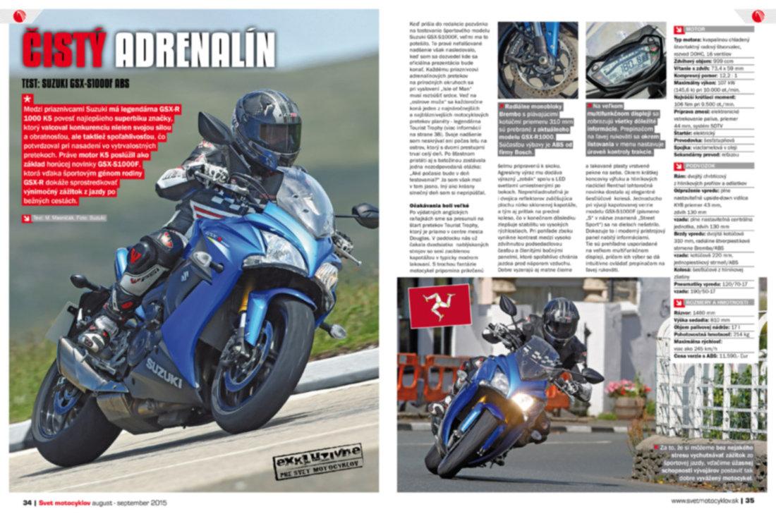 Svet motocyklov 8-9/2015 - Test: Suzuki GSX-S1000F ABS