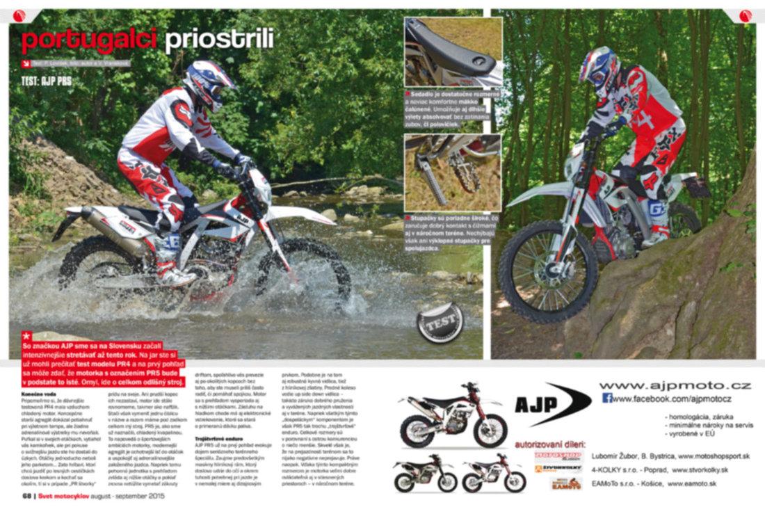 Svet motocyklov 8-9/2015 - Test: AJP PR5