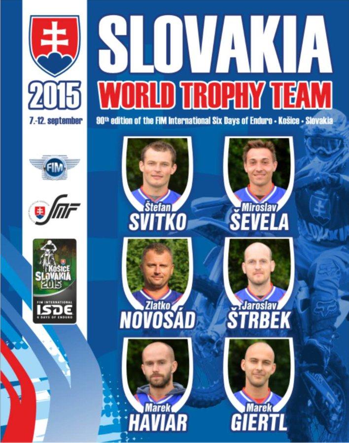 Slovakia trophy team - ISDE Košice 2015