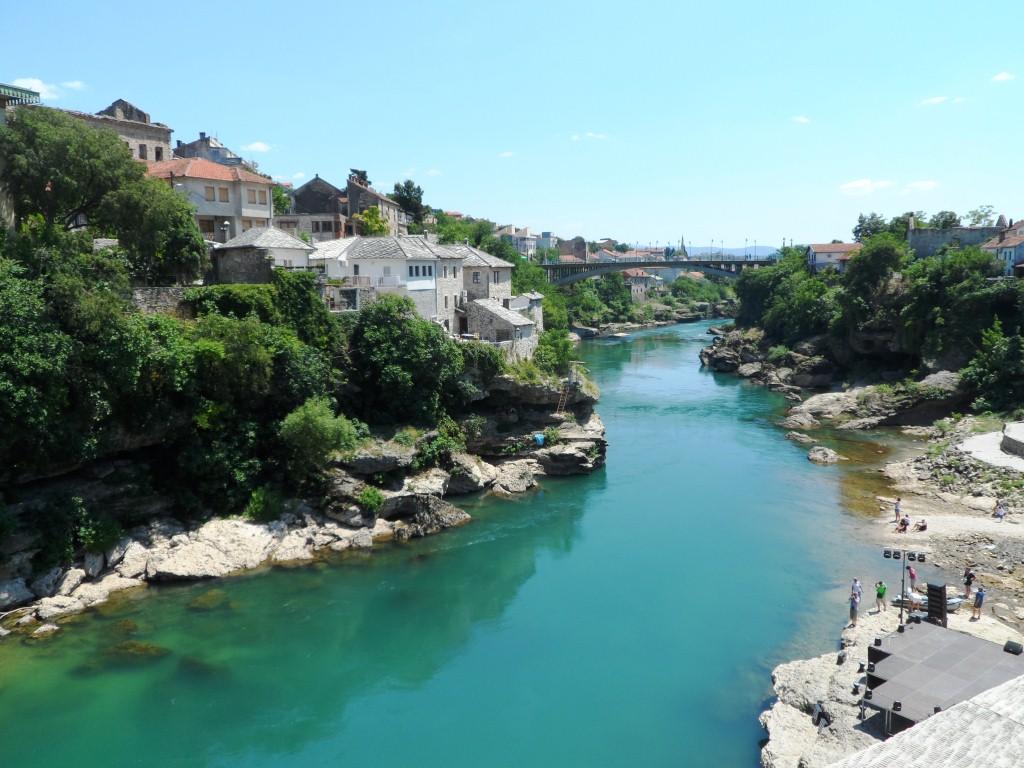 Bosna a Herzegovina - rieka Neretva Mostar