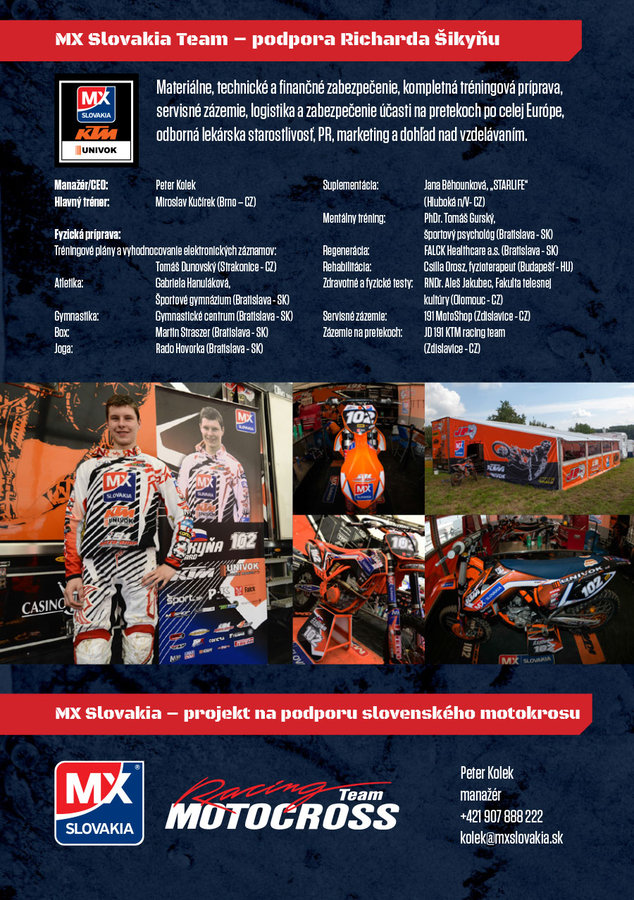 Úspešná sezóna - Richard Šikyňa - najmladší majster SR MX2
