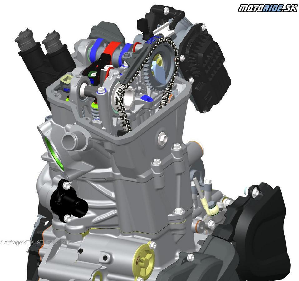 KTM 690 Duke 2016 - hlava valcov
