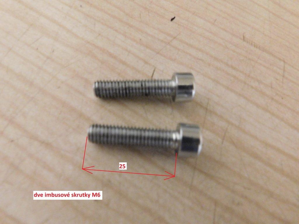 skrutka držiaka pinu tlmiča riadenia 2