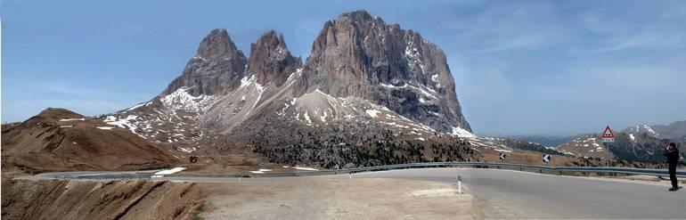 pass di Sella  2244 m.n.m. (Na mape označený číslom 5)