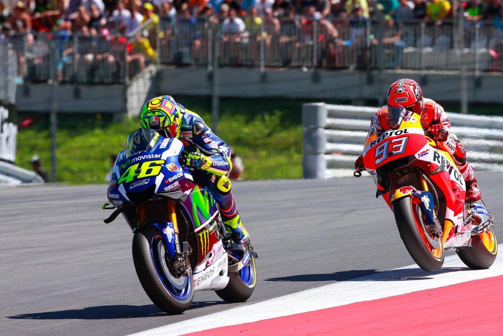 Valentino Rossi, Marc Marquez - MotoGP 2016 - VC Rakúska