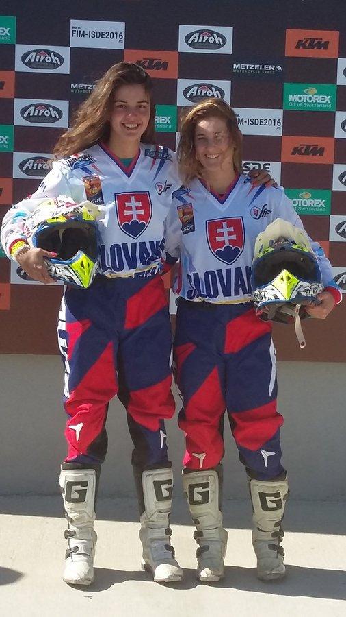 Women trophy team - Katarína Juríčková, Karin Hostinská - ISDE 2016 – Navara, Španielsko