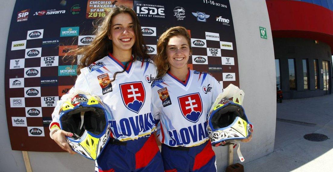 Katarína Juríčková a Karin Hostinská - ISDE 2016 – 1. deň