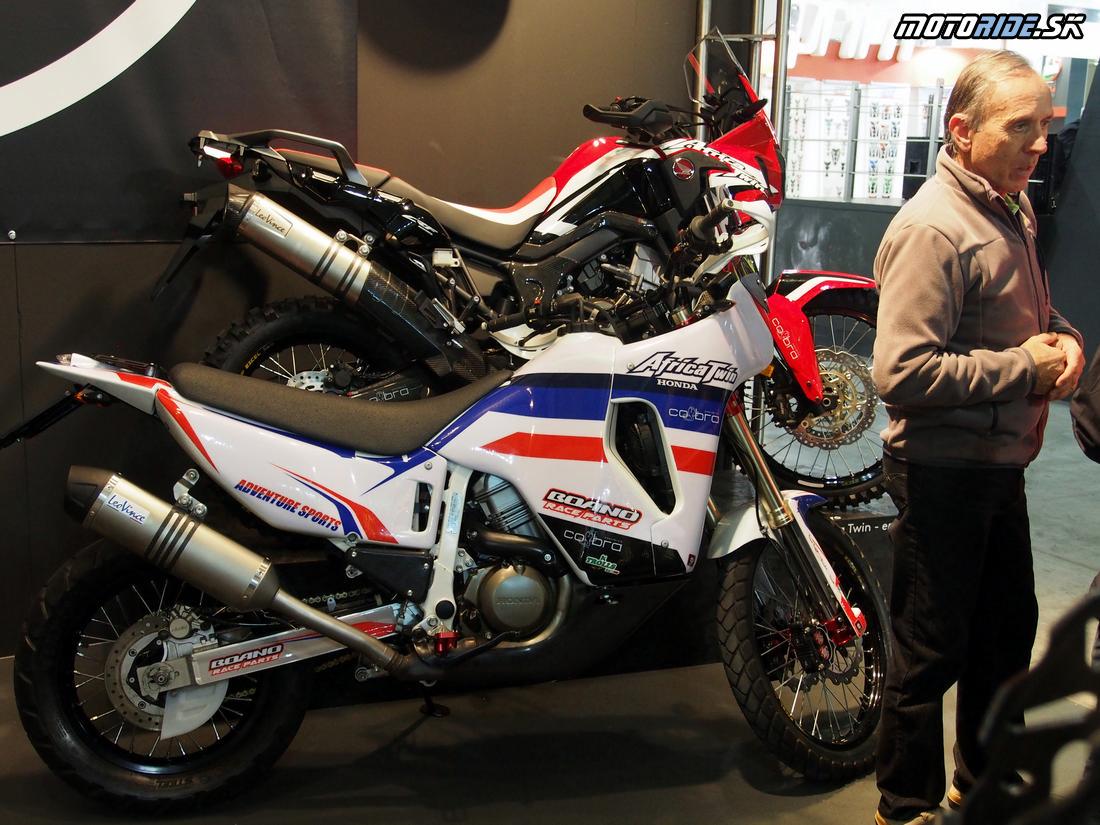 Úpravy Honda CRF1000L Africa Twin - Výstava EICMA Miláno 2016