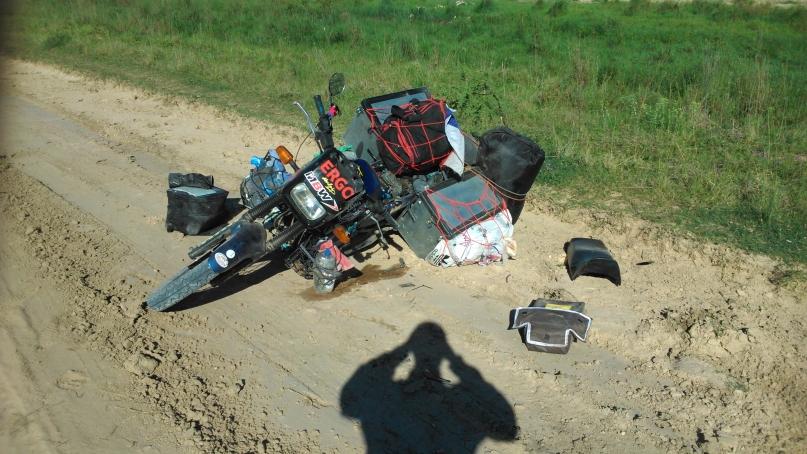 Pád v piesku - Jawa Jižní Amerikou ve stopách Čechů 2016 - Argentína