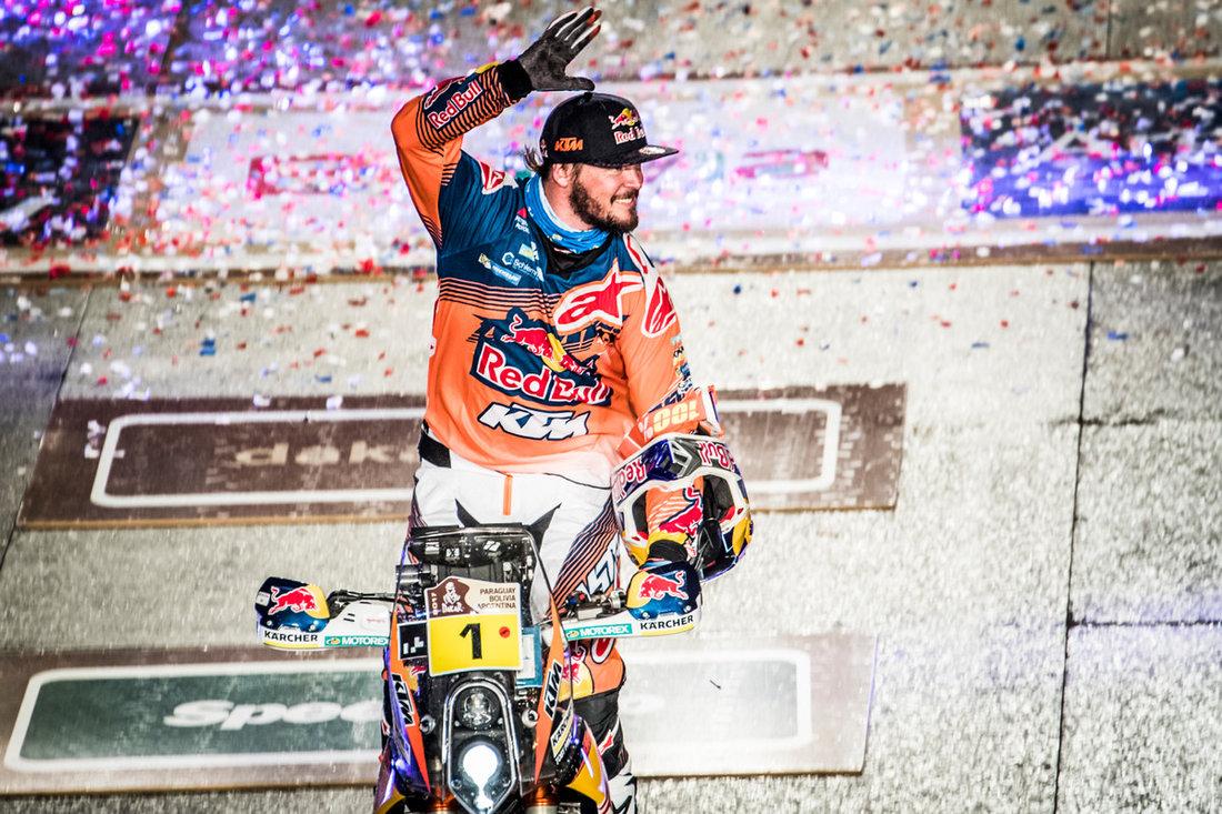 Toby Price KTM 450 RALLY Podium Dakar 2017