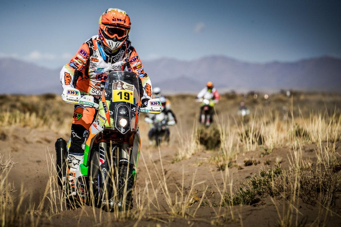 Laia Sanz KTM 450 RALLY Dakar 2017 - 4. etapa