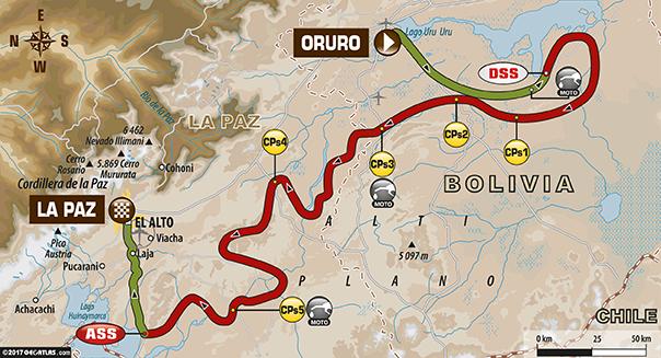 Dakar 2017 – 6. etapa - mapa trasy