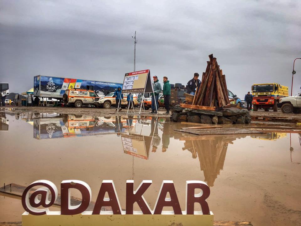 Takto to vyzerá aktuálne v bivaku v Oruro - Dakar 2017 – 6. etapa