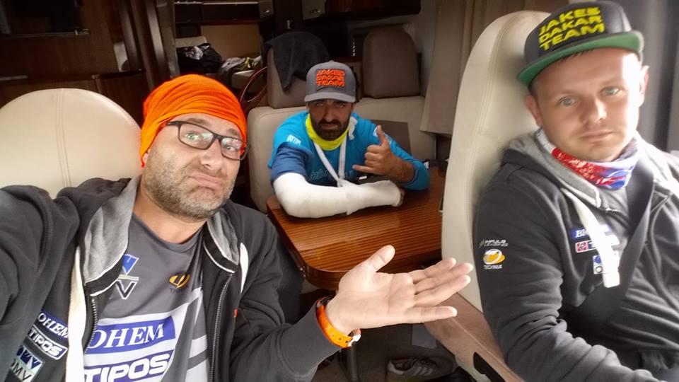 Ivan Jakeš po zranení v aute - Dakar 2017 - 6. etapa