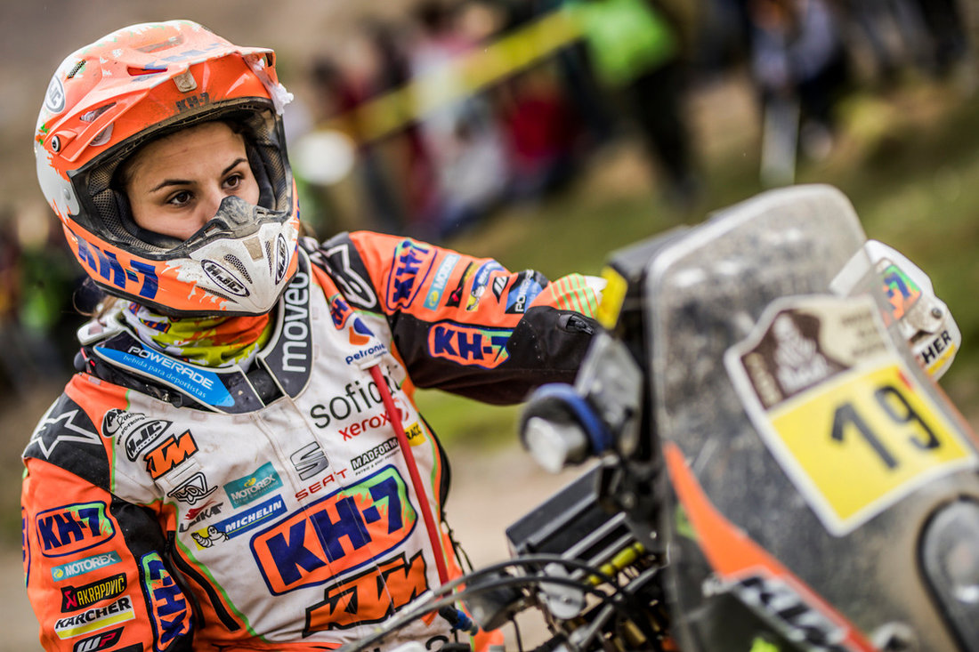 Laia Sanz KTM 450 RALLY Dakar 2017 - 5. etapa