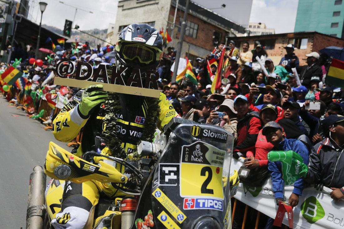 Štefan Svitko - Dakar 2017 – pódium v La Paz