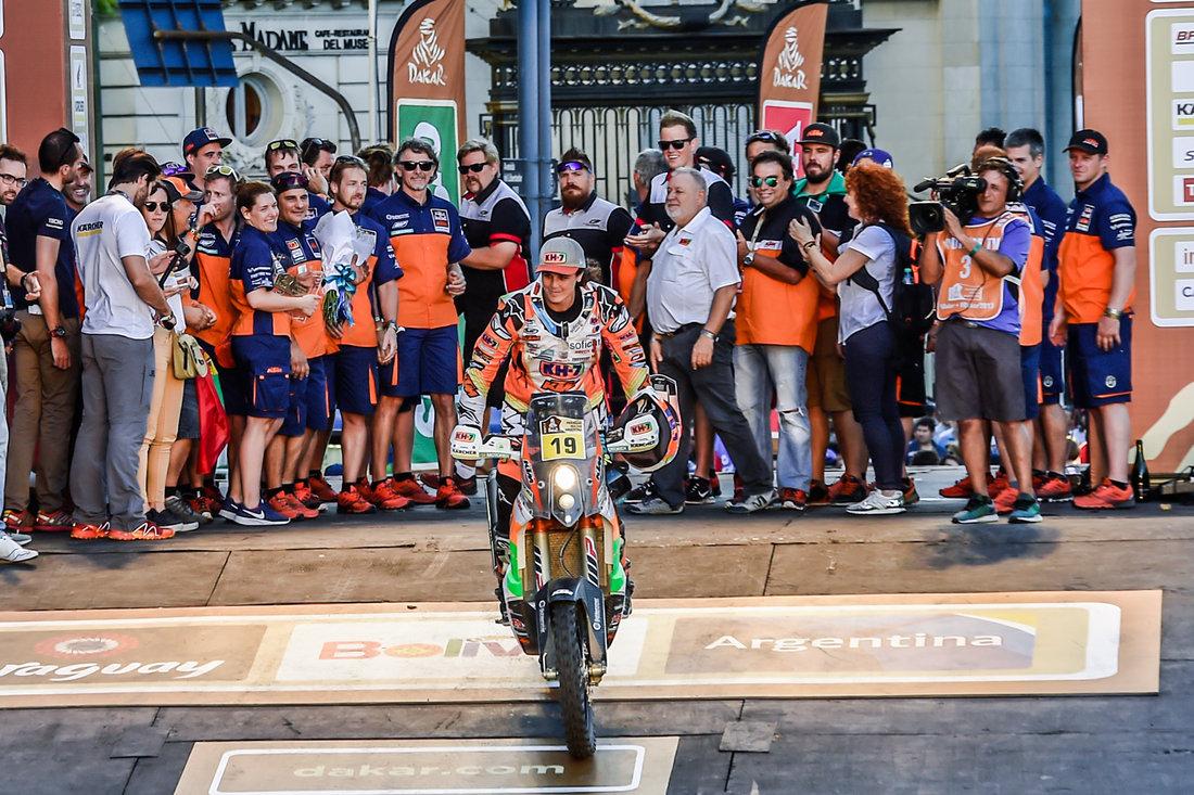 Laia Sanz _ Team KTM 450 RALLY Podium Dakar 2017