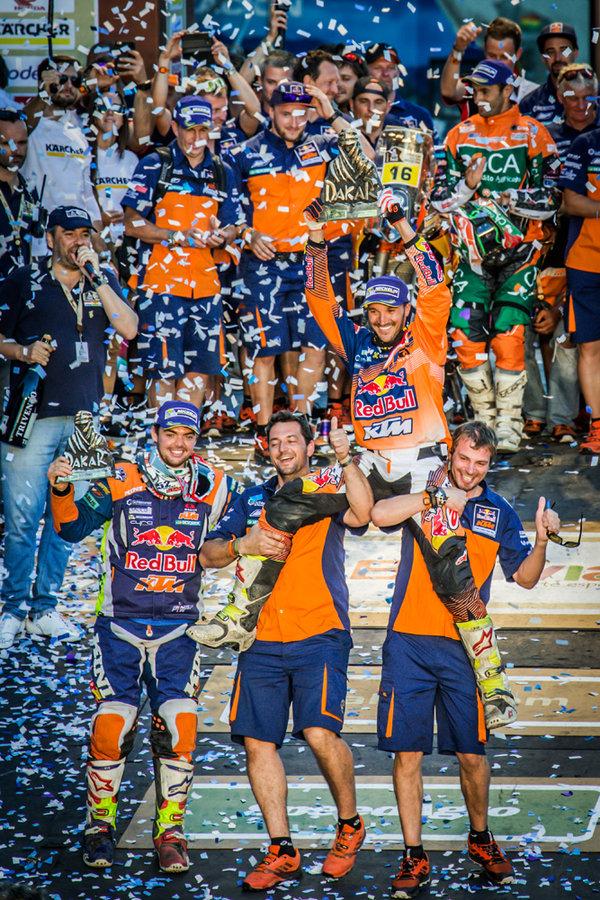 Matthias Walkner_ Sam Sunderland _ Team Podium Dakar 2017