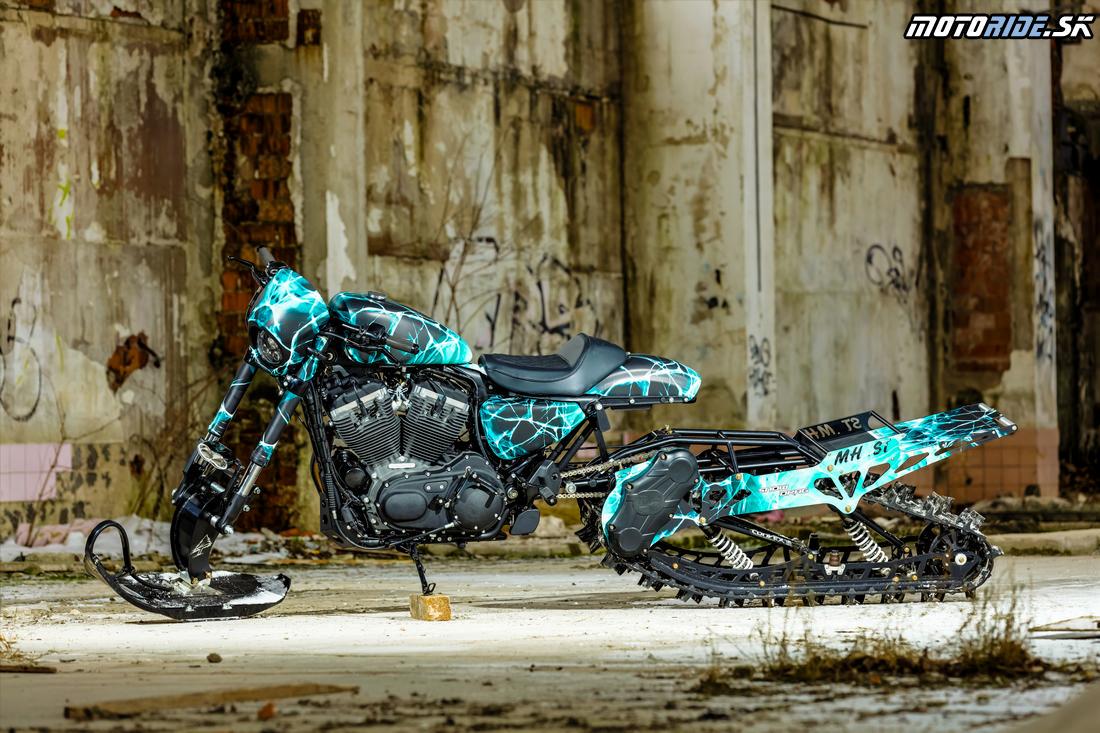 Harley–Davidson Roadster Snow Drag - Prestavba H-D Banská Bystrica
